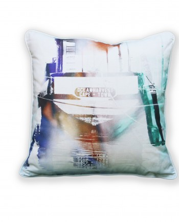 Purple Kalk Bay Boats Cushion