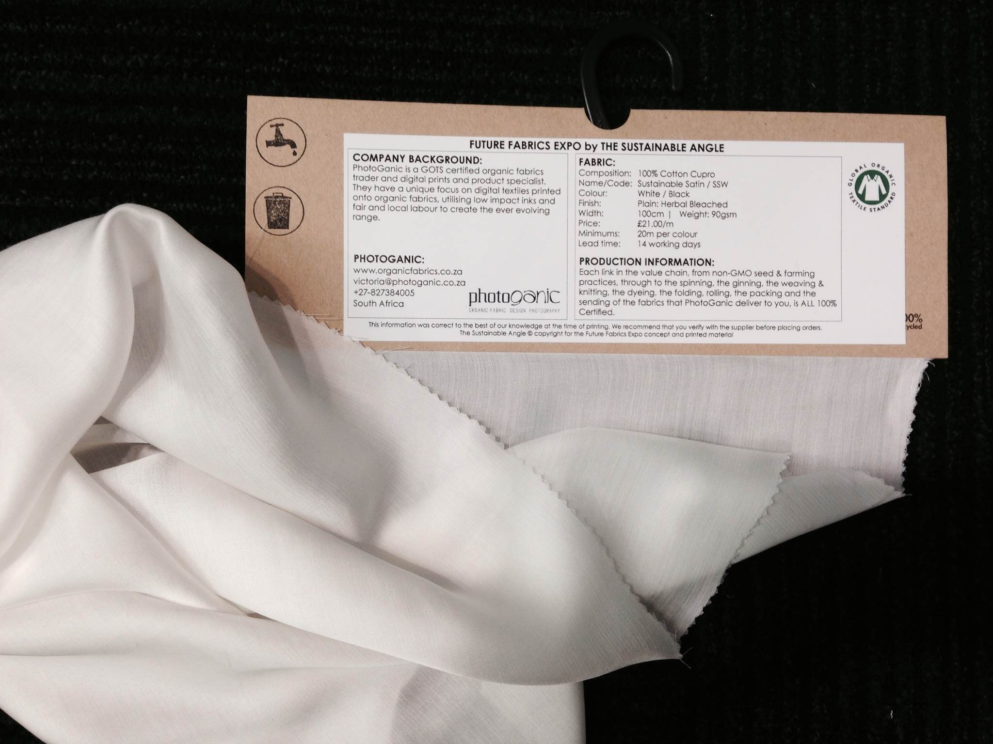 Photoganic cotton cupro